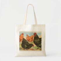 Four Orpington Chickens Hens and Roosters Tote Bag