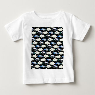 Four Pacific Triggerfish  nighttime pattern Baby T-Shirt