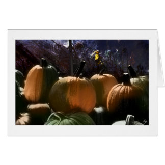 Four Painted Pumpkins Card