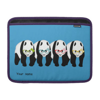 Four Pandas wearing glasses Sleeve For MacBook Air