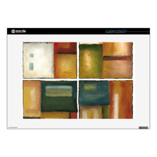 """Four Paneled Painting by Jennifer Goldberger Decal For 15"""" Laptop"""