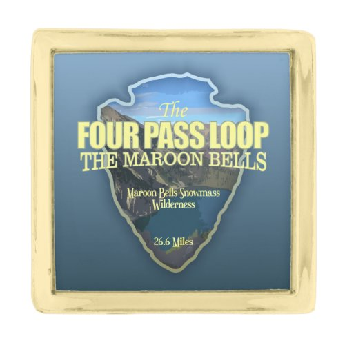 Four Pass Loop (arrowhead) Gold Finish Lapel Pin