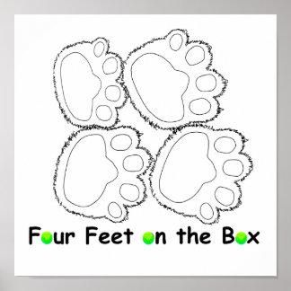 four paws shirt logo print