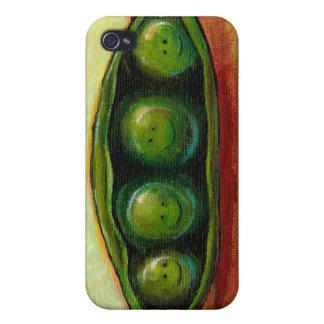 Four peas in a pod fun unique original art case for iPhone 4