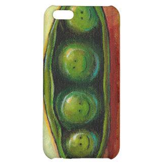 Four peas in a pod fun unique original art iPhone 5C cases