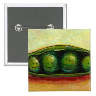Four peas in a pod fun unique original art pinback button