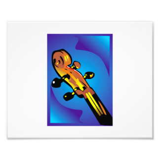 four peg stringed instrument headstock.png photo print