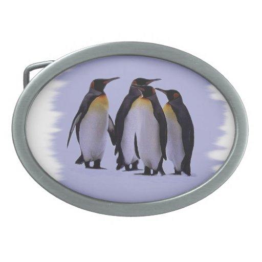 Four Penguins Belt Buckles