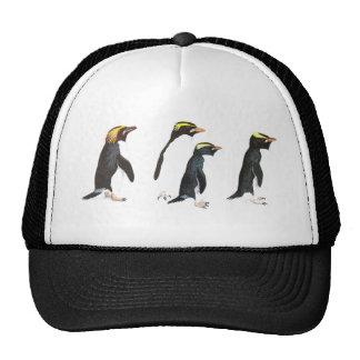 Four Penguins Illustration Trucker Hat