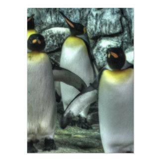 Four Penguins Custom Invite