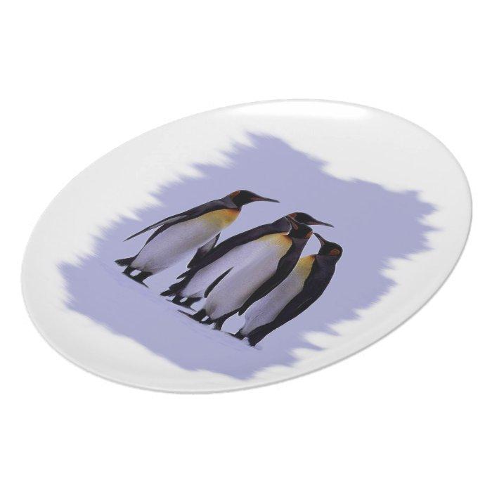 """Four Penguins Plate 10"""""""