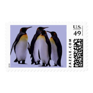 Four Penguins Postage Stamps