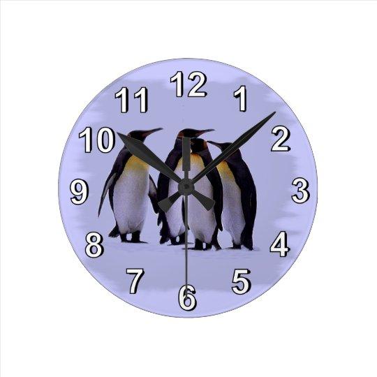 Four Penguins Wall Clock