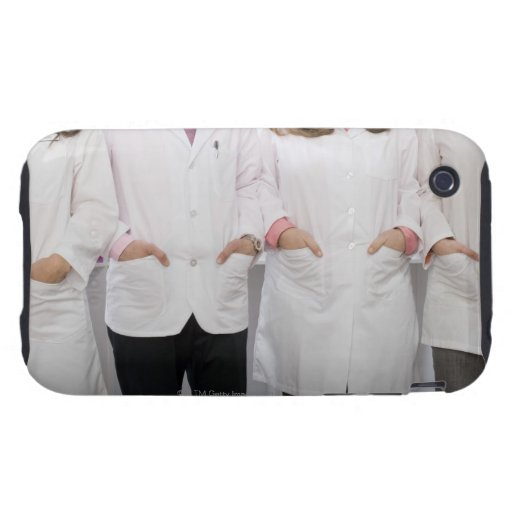 Four pharmacists with their hands in their iPhone 3 tough cover