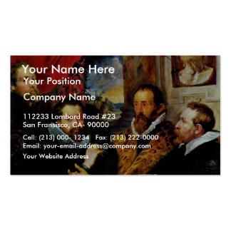 Four Philosophers Scene From Left: His Brother Business Card Templates