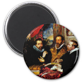 Four Philosophers Scene From Left: His Brother Fridge Magnet