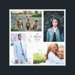 "Four Photo Collage Canvas with Custom Text<br><div class=""desc"">Capture the year&#39;s memories in a customizable square print with four of your favorite photos,  and customized name and year text.</div>"