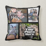 Four Photo Collage Full-Color Pillow