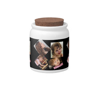 Four Photo Collage Template Candy Jar