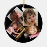 Four Photo Collage Template Ornament