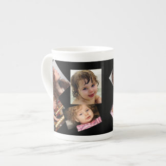 Four Photo Collage Template Tea Cup