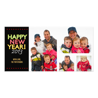 Four Photo Happy New Year Photo Card