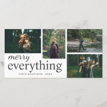 Four Photo | Merry Everything Typography Holiday