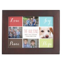 four photos collage custom keepsake box