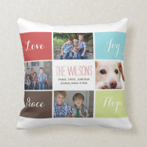 four photos collage custom pillows