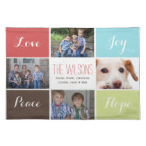 four photos collage custom placemats
