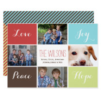 four photos collage Mod Holiday Flat card
