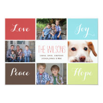 four photos collage Mod Holiday Flat card