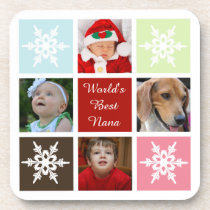 four photos collage Mod photo coaster