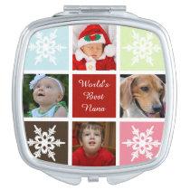four photos collage Mod photo compact mirror