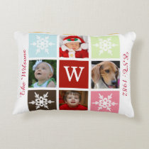 four photos collage Mod photo pillow