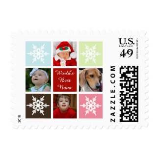 four photos collage Mod photo stamps
