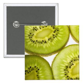 Four pieces of sliced kiwi button