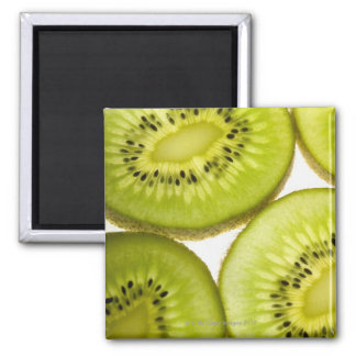 Four pieces of sliced kiwi magnet