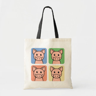 Four Pigs Tote Bags