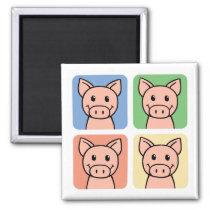 Four Pigs Magnet