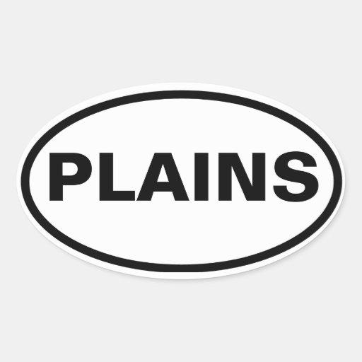 FOUR Plains, Georgia Oval Sticker