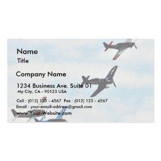Four Planes Ons Sky Business Card Template