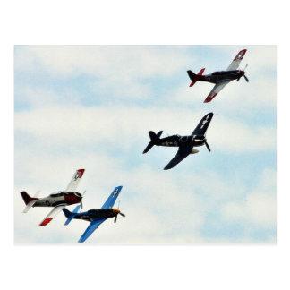 Four Planes Ons Sky Postcard
