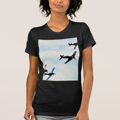 Four Planes Ons Sky T-shirts