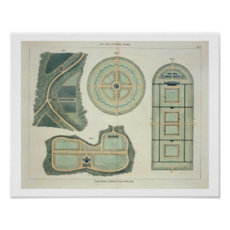 Four Plans for Kitchen Gardens, from 'Hints on the Poster