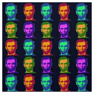 Four Pop Art Abraham Lincolns Fabric