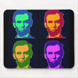 Four Pop Art Abraham Lincolns Mouse Pad