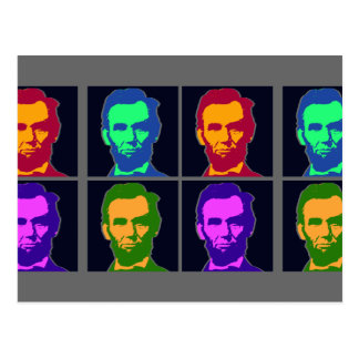 Four Pop Art Abraham Lincolns Postcard