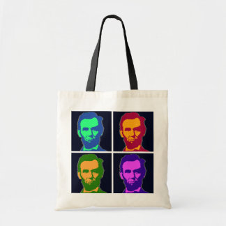 Four Pop Art Abraham Lincolns Tote Bag