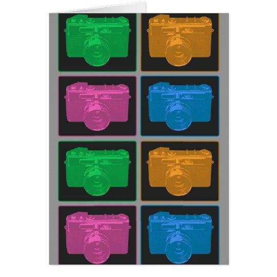 Four Pop Art Cameras Card